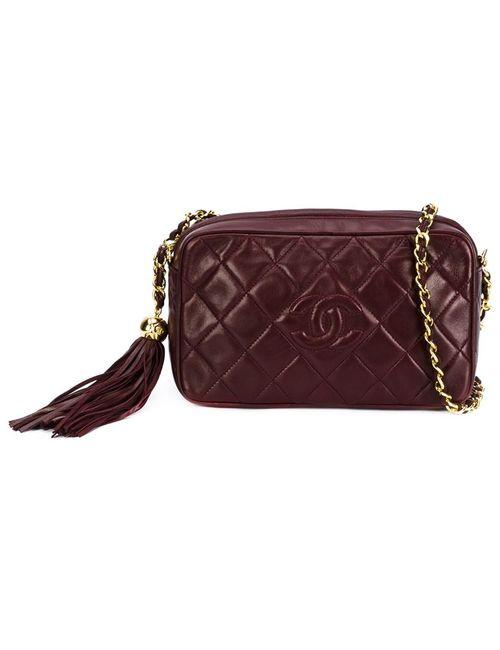 Chanel Vintage | Женская Красная Сумка Для Камеры Через Плечо