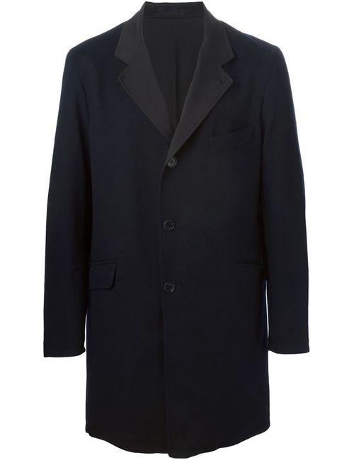 Loro Piana | Мужское Синее Однобортное Пальто Пальто