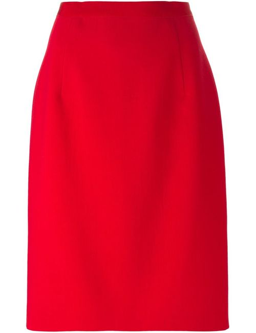 Giambattista Valli | Женская Красная Юбка Средней Длины