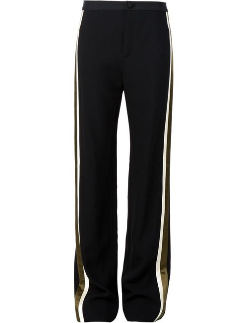 Bouchra Jarrar | Чёрный Contrast Stripe Slim Fit Trousers