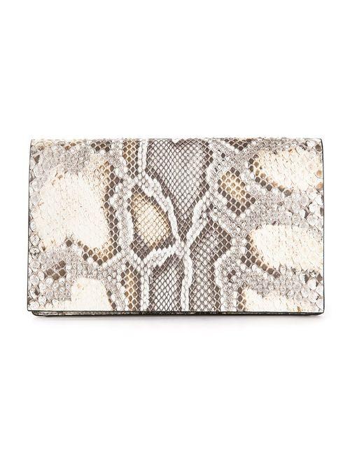 Calvin Klein Collection | Женское Коричневый Small Snakeskin Print Clutch