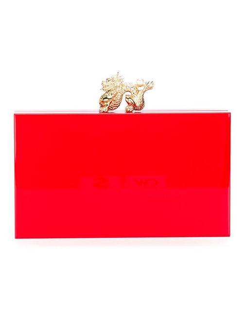Charlotte Olympia | Женское Красный Dragon Pandora Clutch