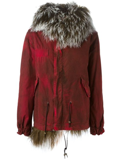 MR & MRS Italy | Женское Красный Fur And Shearling Lined Parka