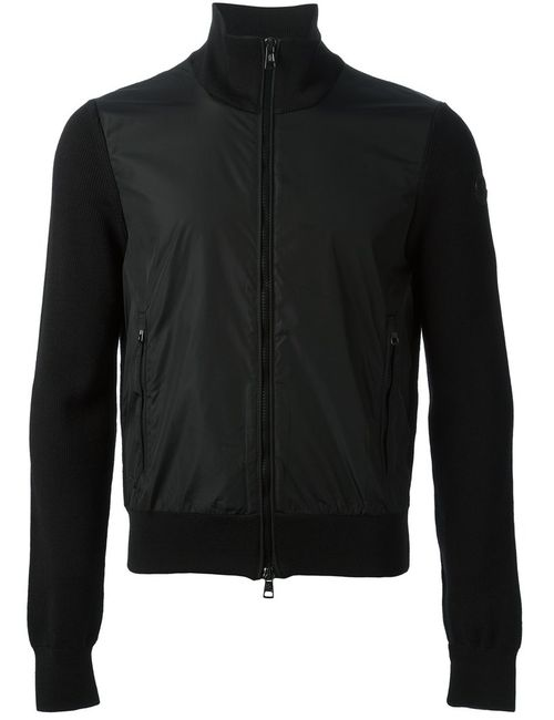 Moncler | Мужская Чёрная Спортивная Куртка
