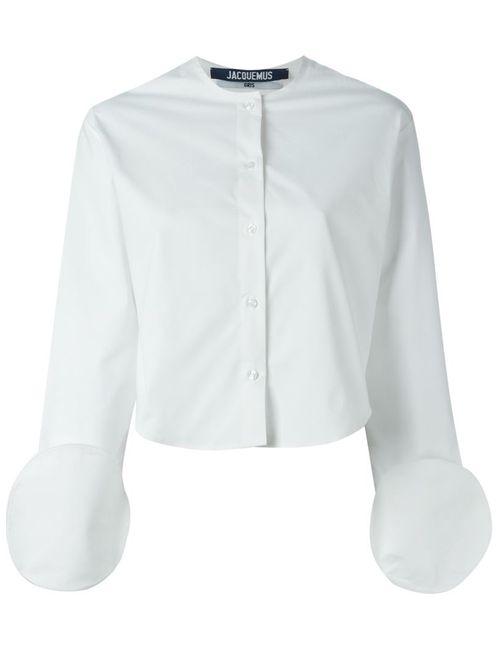 JACQUEMUS | Женская Белая Рубашка С Круглыми Манжетами