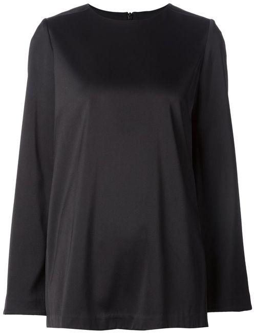Co | Женская Чёрная Блузка С Баской Сзади