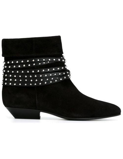 Saint Laurent | Женские Чёрные Ботинки Titi