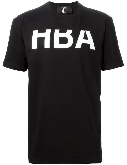 HOOD BY AIR | Мужская Чёрная Футболка Rehab