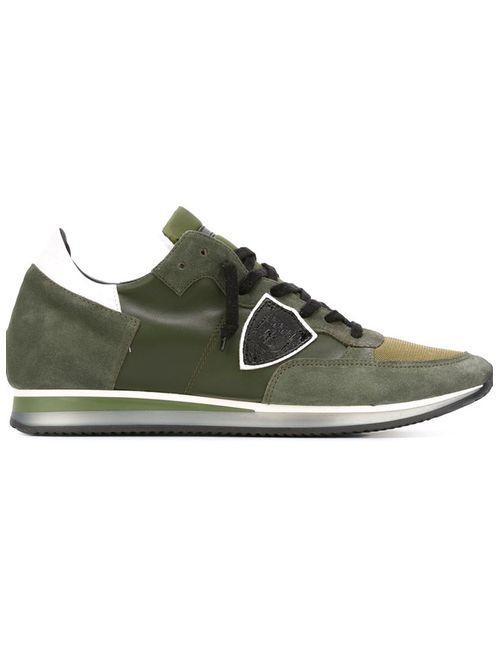 Philippe Model | Мужские Зелёные Кроссовки С Панельным Дизайном