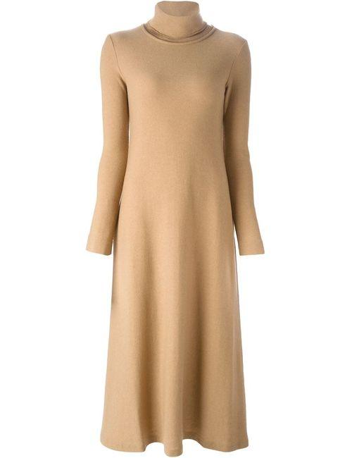 Forte Forte | Женское Nude & Neutrals Расклешенное Платье С Высоким Горлышком