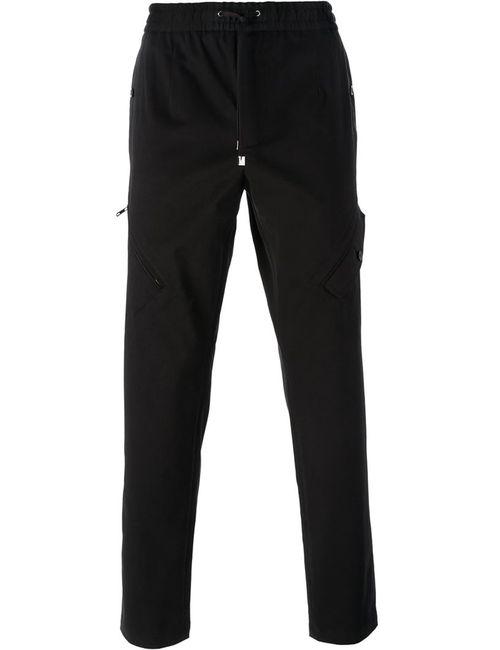 Dolce & Gabbana | Мужские Чёрные Спортивные Брюки Кроя Слим