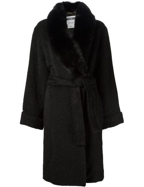 Moschino | Женское Чёрный Virgin Wool-Alpaca-Mohair Blend Oversized Coat From Featuring