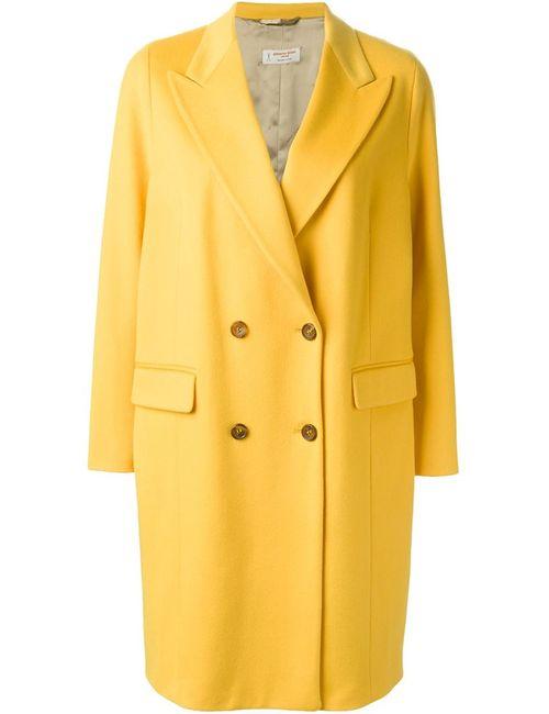 Alberto Biani | Женское Жёлтое Двубортное Пальто