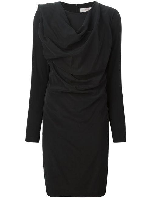 A.F.Vandevorst | Женское Чёрное Драпированное Платье 152 Demand