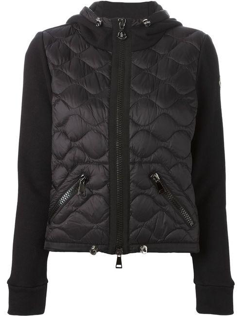 Moncler | Женская Черный Стеганая Куртка С Капюшоном