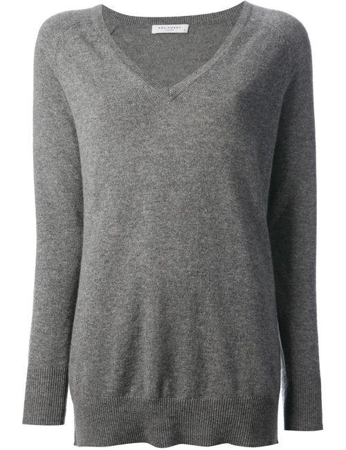 Equipment   Женское Серый V Neck Sweater