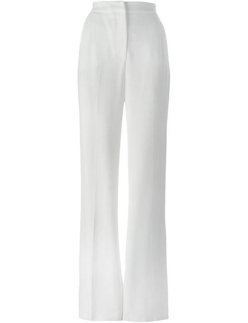 MSGM   Женское Красный High Waist Wide Leg Trousers