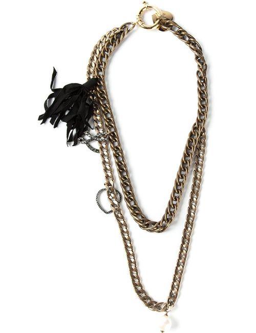 Lanvin | Женское Серебристый Double Chain Opera Necklace