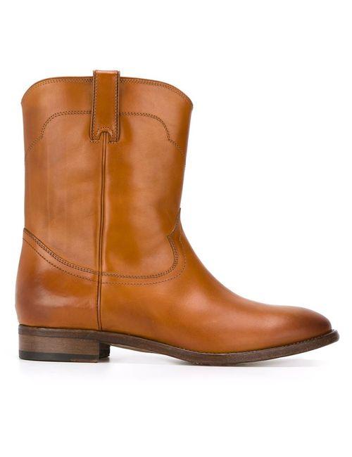 Ralph Lauren | Женские Коричневые Ботинки В Стиле Вестерн