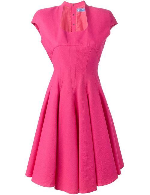 THIERRY MUGLER VINTAGE | Женское Розовое Облегающее Расклешенное Платье
