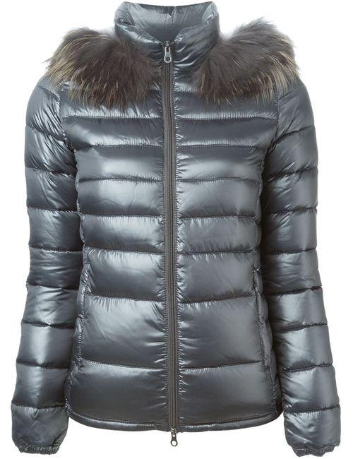 Duvetica | Женская Серая Дутая Куртка С Капюшоном