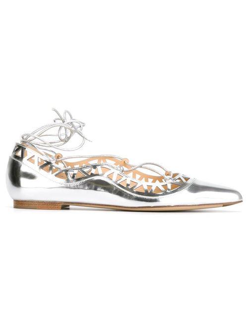 Bionda Castana | Женское Серебристый Lace-Up Ballerinas