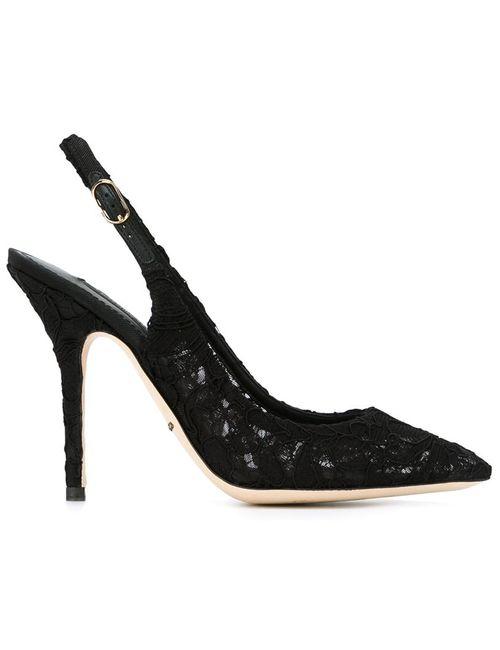 Dolce & Gabbana | Женское Чёрный Bellucci Sling-Back Pumps