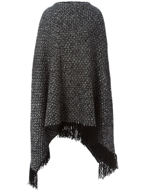 Dolce & Gabbana | Женское Чёрный Marled Knit Poncho