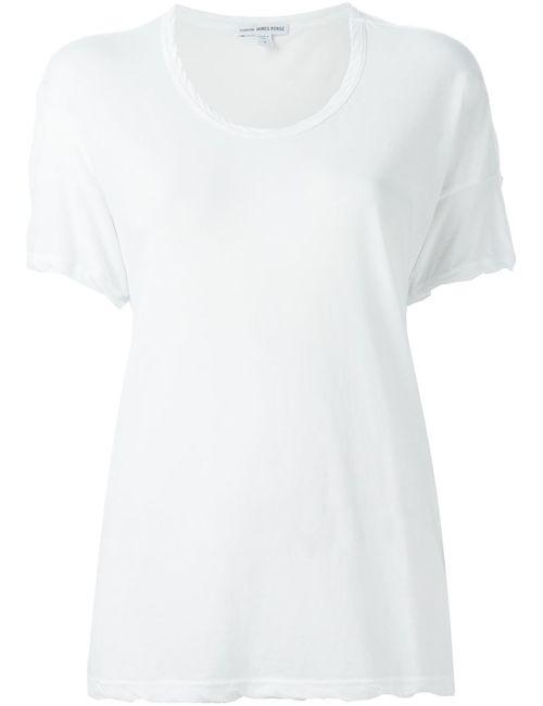 James Perse | Женская Белая Футболка С Круглым Вырезом
