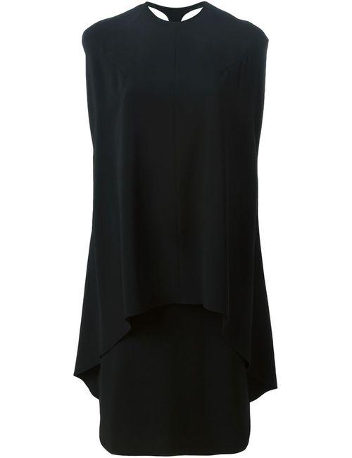 ESTEBAN CORTAZAR   Женское Чёрное Многослойное Платье-Накидка