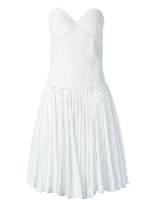 A.F.Vandevorst | Женское Белое Платье 152 Decisive Без Лямок