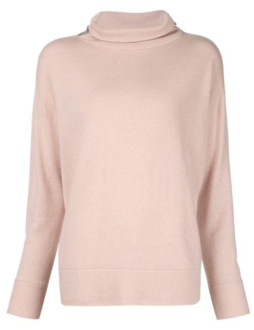 Brunello Cucinelli | Женское Розовый Roll Neck Sweater