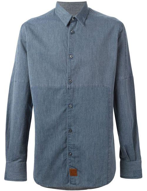AL DUCA D'AOSTA | Мужская Синяя Джинсовая Рубашка