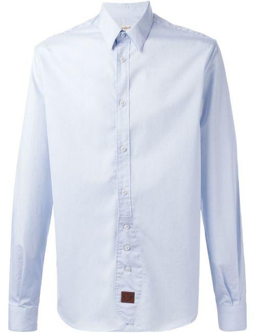 AL DUCA D'AOSTA | Мужская Синяя Классическая Рубашка