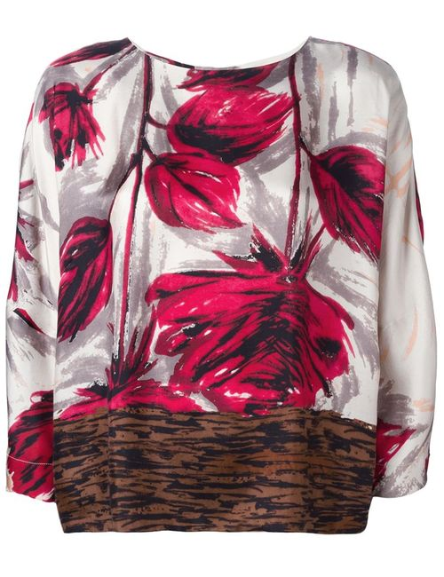 ERIKA CAVALLINI SEMICOUTURE   Женская Многоцветная Блузка С Принтом