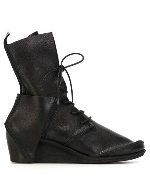 Trippen | Женские Чёрные Ботинки На Танкетке