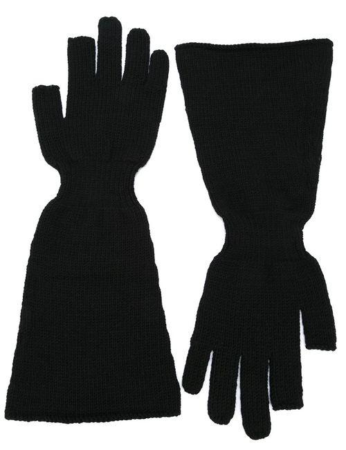 Rick Owens | Мужские Чёрные Перчатки С Широкими Манжетами