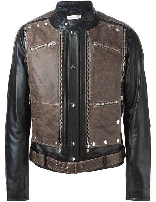 Faith Connexion | Мужская Коричневая Куртка С Панельным Дизайном