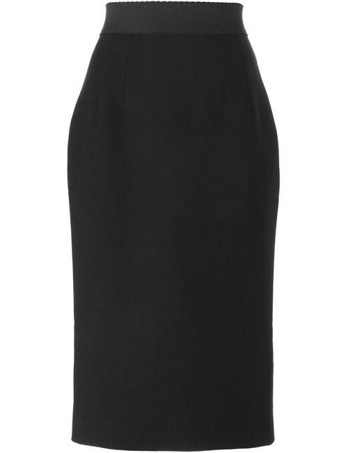 Dolce & Gabbana   Женская Чёрная Юбка Прямого Кроя