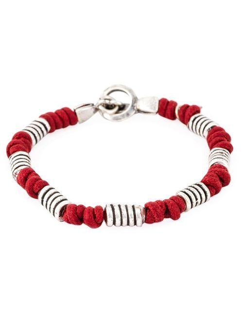 Eleventy   Мужское Серебристый And Beaded Bracelet From