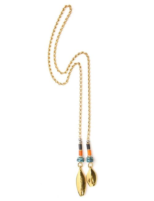 LIZZIE FORTUNATO JEWELS | Женское Желтый -Toned Brass Chain Wrap Necklace From