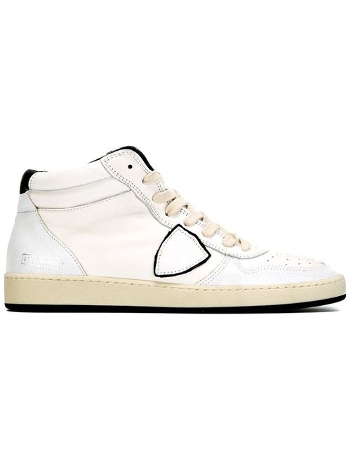 Philippe Model   Мужские Белые Кроссовки На Шнуровке