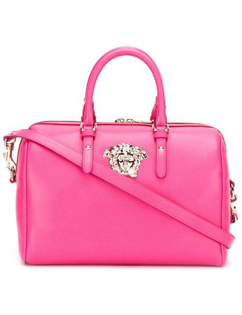 Versace | Женская Розовая Сумка-Тоут С Логотипом Medusa