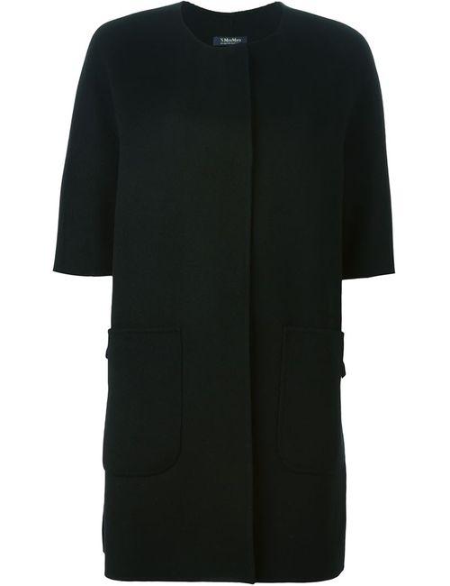 'S Max Mara | Женское Черный Пальто С Короткими Рукавами Jeff