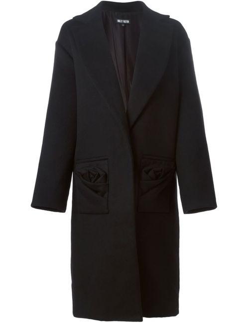 Holly Fulton | Женское Чёрное Однобортное Пальто