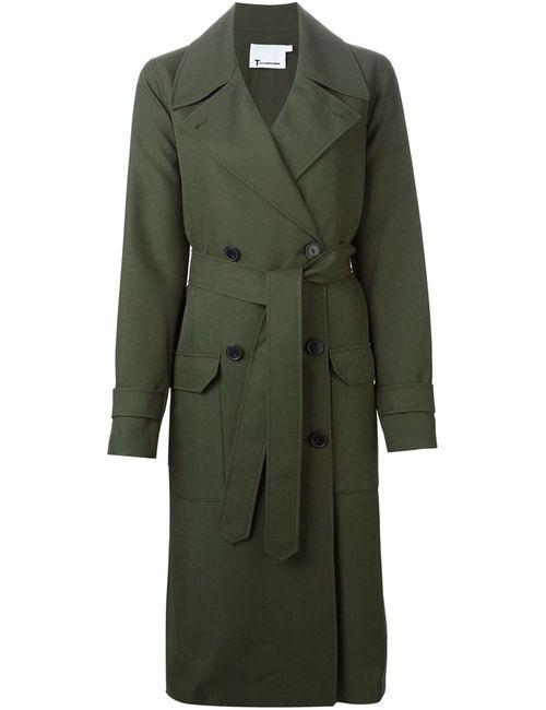 Alexander Wang | Женское Зелёное Двубортное Пальто