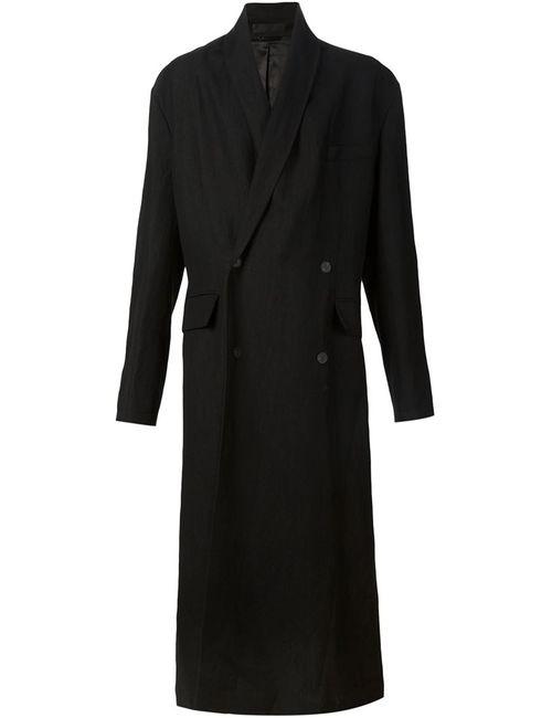 Haider Ackermann   Мужское Чёрное Удлиненное Пальто