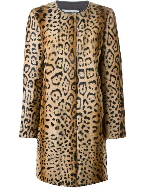 Yves Salomon | Женское Nude & Neutrals Пальто С Леопардовым Принтом