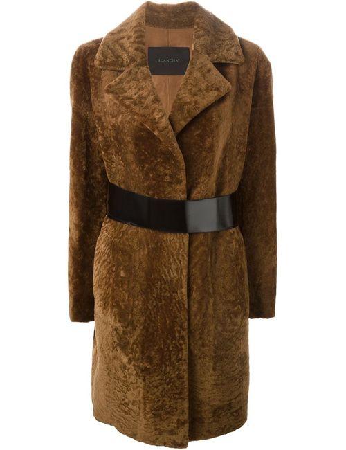 Blancha | Женское Коричневое Пальто С Поясом