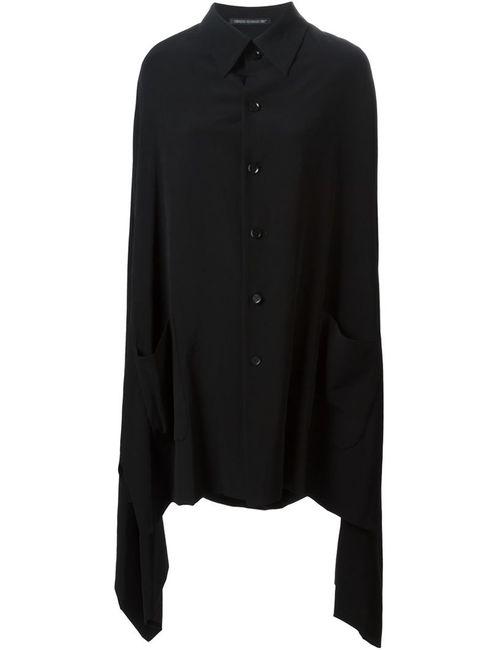 Yohji Yamamoto | Женское Чёрное Пальто В Стиле Кейп